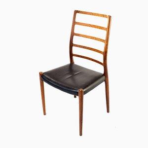 Modell 82 Esszimmerstühle von Niels Otto Møller für JL Møllers, 1950er, 2er Set