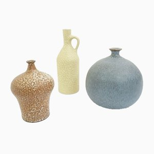 Collection of Small Vases Made in Sweden, 1960s, Set of 3