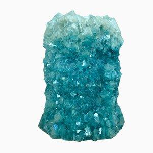 Vase en Cristal Bleu Clair par Isaac Monté