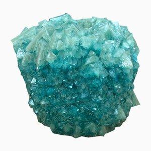 Aquamarine Kristallvase von Isaac Monté