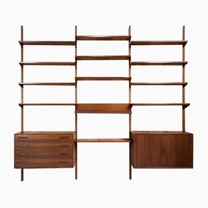 Mid-Century Danish Teak Wall Units by Kai Kristiansen for FM Møbler, 1960s, Set of 15