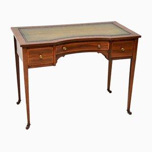 Antique Edwardian Inlaid Mahogany Writing Table or Desk