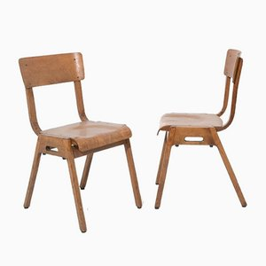 Italian Bent Plywood Chairs, 1950s, Set of 7