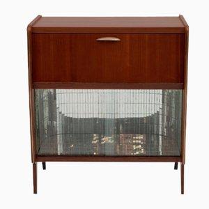 Italienisches Sideboard aus Holz, Glas & Spiegelglas, 1950er