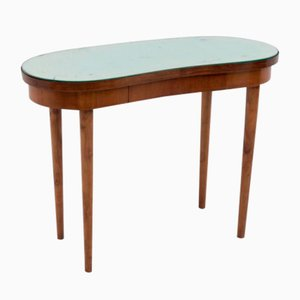 Wooden and Mirrored Glass Console Table Attributed to Gio Ponti, 1950s