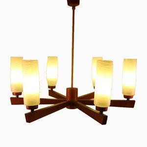 Lampe à Suspension Scandinave avec 6 Éclairages en Teck