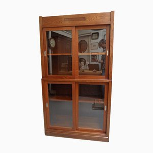 Antique Store Cupboard with Sliding Doors