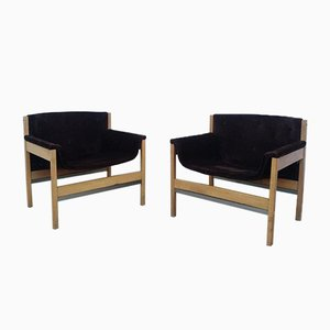 Armchairs by Tito Agnoli for Cinova, 1950s, Set of 2