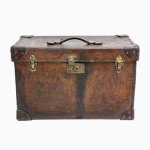 Brauner Österreichischer Koffer aus Leder, 1920er