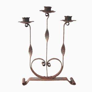 Mid-Century Kerzenhalter aus Eisen