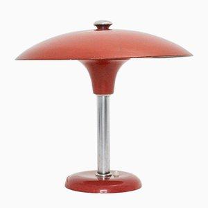 Rote deutsche Art Deco Tischlampe von Max Schumacher für Werner Schröder Lobenstein, 1930er