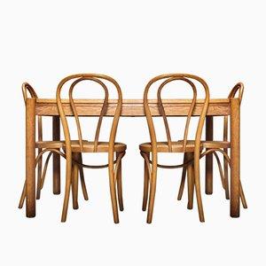 Vintage Esstisch & Stühle Set, 5er Set