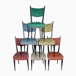 Esszimmerstühle aus Kunstleder, 1960er, 6er Set
