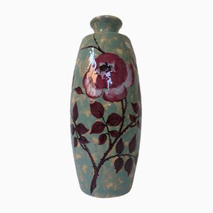 Large Art Deco French Ceramic Vase by Simone Larrie for d'Argyll, 1930s