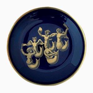 Assiette Migrazione Delle Sirene par Gio Ponti pour Richard Ginori, 1984