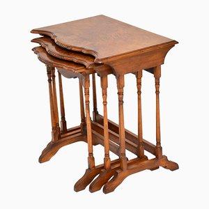 Antique Burr Walnut Nesting Tables