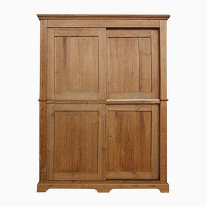 Antique Cabinet with Sliding Doors
