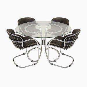 Italienische Vintage Esszimmerstühle von Gastone Rinaldi für Rima, 5er Set