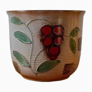 Großer Blumentopf aus Keramik von Scheurich, 1960er