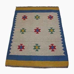 Wool Qashqai Kilim Carpet, 1990s
