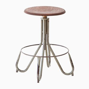 Industrial Italian Iron Stool, 1950s