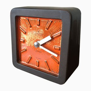 Mid-Century Ceramic Ato-Mat Table Clock from Junghans , 1950s