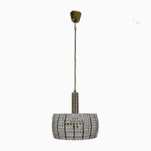 Lampada da soffitto in ottone ed acrilico di Emil Stejnar per Rupert Nikoll, Austria, anni '60