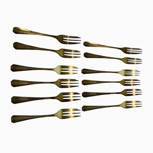 Oyster Forks from Christofle, 1950s, Set of 12
