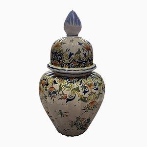 Porcelain Vase from Desvres, 1950s