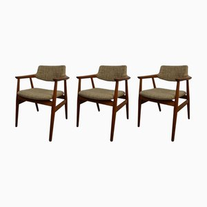 Model GM11 Armchairs by Svend Åge Eriksen for Glostrup, 1960s, Set of 3