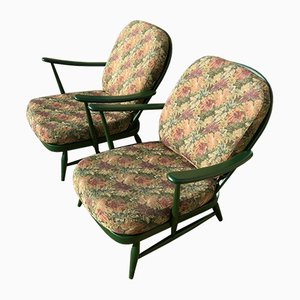 Green Limited Edition Armchair by Ercol, 1970s