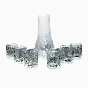 Finnish Glasses and Pitcher by Tapio Wirkkala for Iittala, 1970s, Set of 7