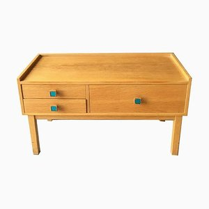 Small Swedish Oak Chest of Drawers, 1960s