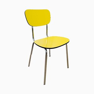 Vintage Yellow Dining Chair