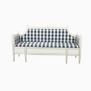 Swedish Gustavian Sofa Bench with Tapered Legs