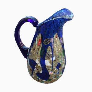 Blaue Murano Glaskrug von Avem, 1950er