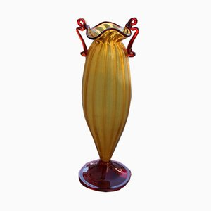 Art Nouveau Italian Blown Murano Glass Vase, 1920s