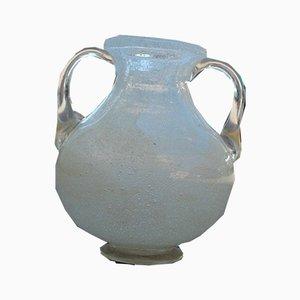 White Murano Glass Vase from Seguso, 1940s