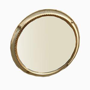 Round Gilt Mirror, 1950s
