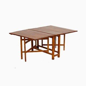 Antique Swedish Folding Table in Oak
