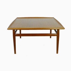 Large Danish Square Teak Coffee Table by Grete Jalk, 1960s