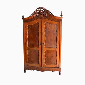19th Century Biedermeier Dutch Crest Cabinet