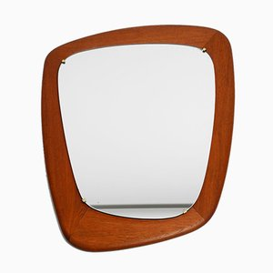 Large Mid-Century Danish Teak Wall Mirrors, Set of 2