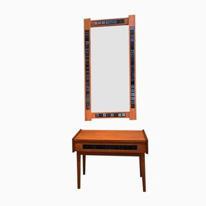 Hallway Mirror and Dresser Set, 1960s, Set of 2