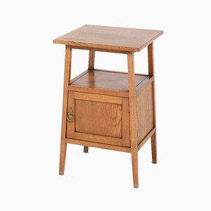 Antique Arts & Crafts Oak Nightstand from Onder den Sint Maarten, 1900s