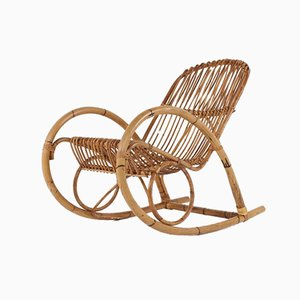 Bamboo Rocking Chair, 1960s