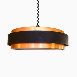 Dano Circular Ceiling Lamp by Johannes Hammerborg for Fog & Mørup, 1960s