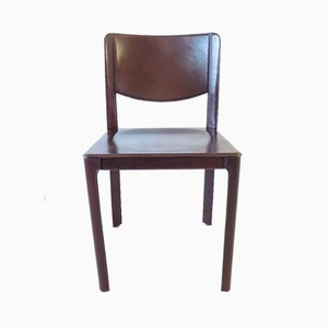 Saddle Leather Dining Chair by Matteo Grassi, 1980s