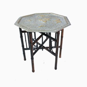 Small Brass Side Table, 1940s