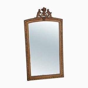 Grand Miroir Mural ou de Sol Antique Doré